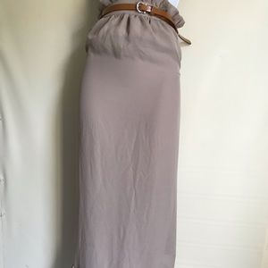 Romeo & Juliet   Couture belted maxi skirt